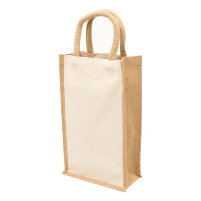 Picture of Eco Jute 2 Bottle Wine Bag