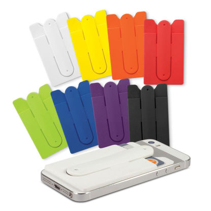 Picture of Silicone Phone Wallet with Stand