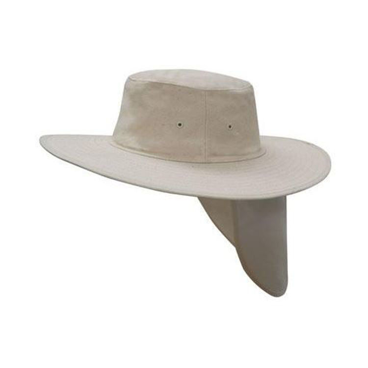 Picture of Canvas Sun Hat with Flap