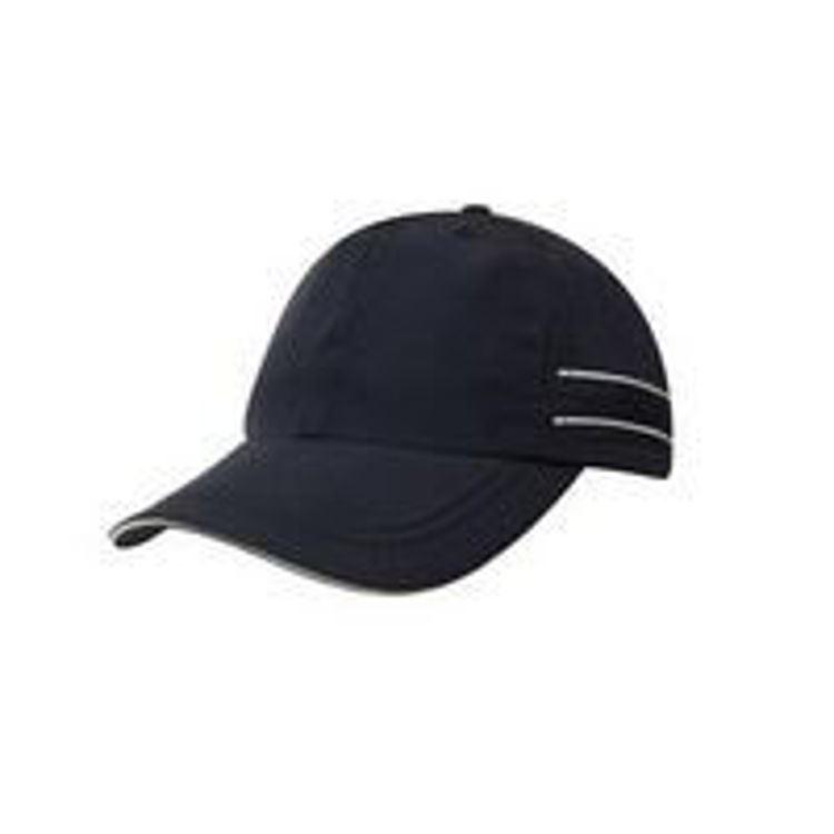 Picture of Micofibre Sports Cap with piping and Sandwich