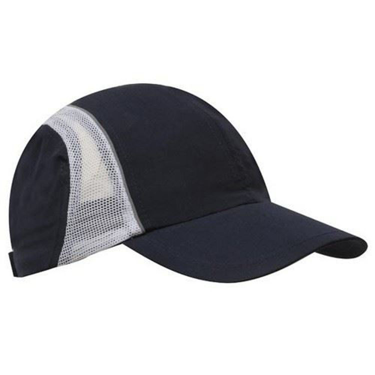 Picture of Micro Fibre and Mesh Sports Cap with Reflective Trim