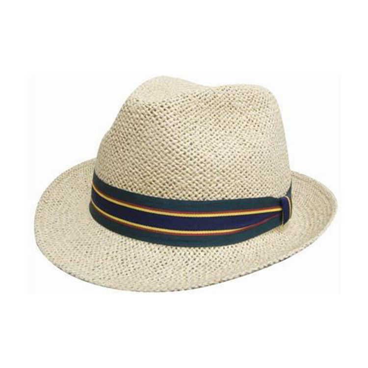 Picture of Natural Fedora Style String Straw Hat
