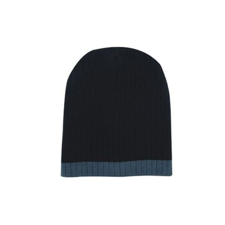 Picture of Two Tone Cable Knit Beanie