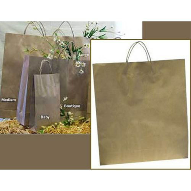Picture of Brown Kraft - Paper Loop Handles - Large