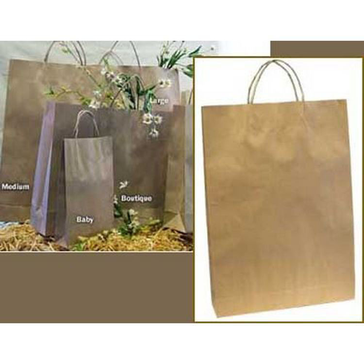 Picture of Brown Kraft - Paper Loop Handles - Medium