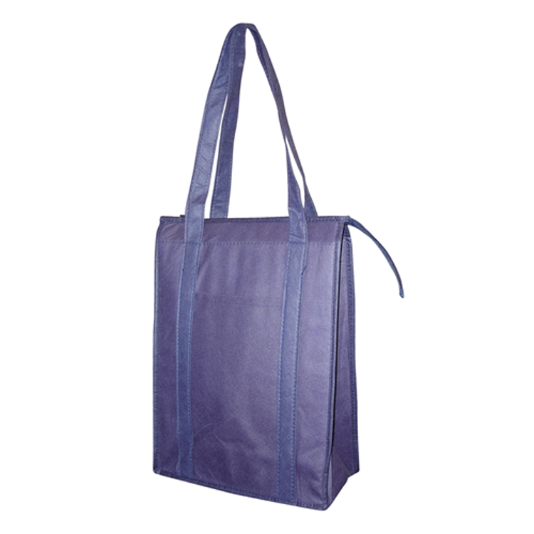 Picture of NON WOVEN COOLER BAG WITH TOP ZIP CLOSURE