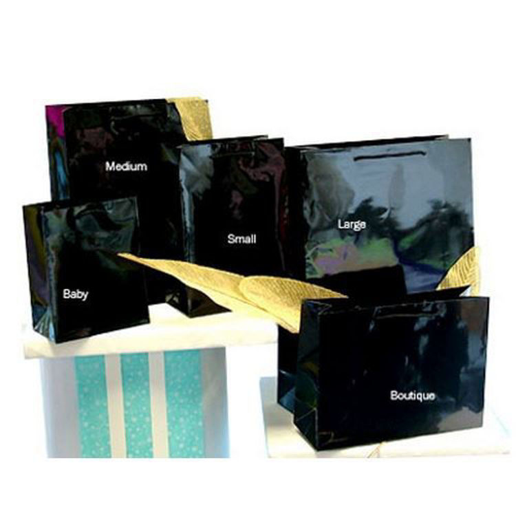Picture of Plain Laminated Paper Bags with Rope Handle - Medium