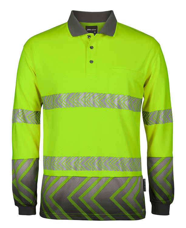 Picture of JB's L/S ARROW SUB POLO WITH SEGMENTED TAPE