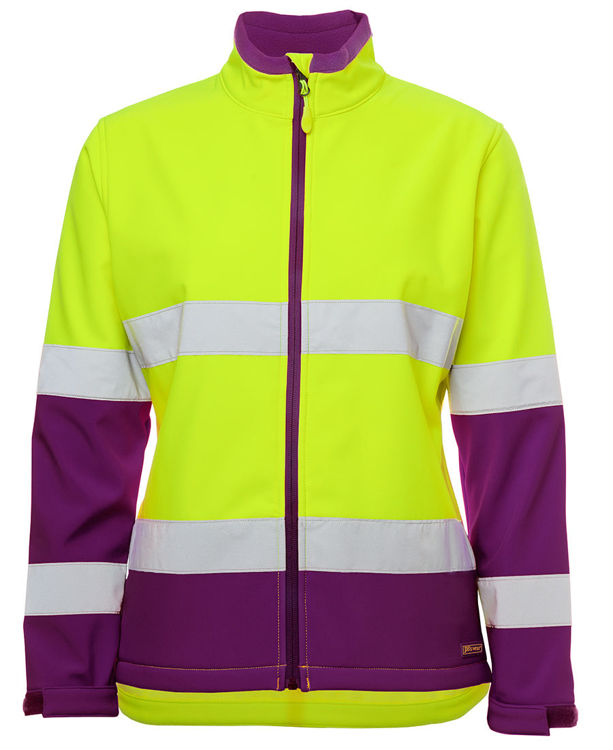 Picture of JB's LADIES HV D+N WATER RESISTANT SOFTSHELL JACKET