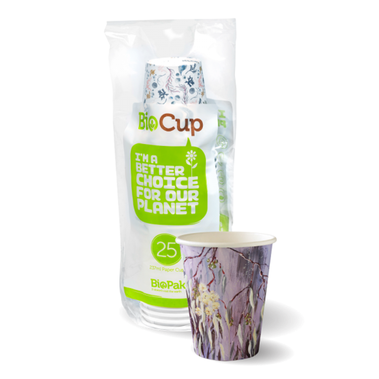 Picture of 8oz Art Series Hot Paper BioCups(280ml) - 25pk