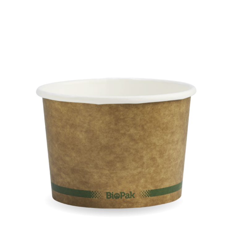 Picture of BioPak Paper BioBowls - Kraft Look